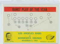 1964 Philadelphia 98 Rams Play Excellent to Mint