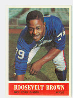 1964 Philadelphia 114 Roosevelt Brown New York Giants Very Good to Excellent