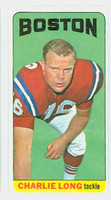 1965 Topps Football 13 Charles Long Boston Patriots Excellent to Excellent Plus