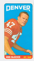 1965 Topps Football 59 John McGeever Denver Broncos Excellent