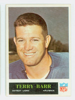 1965 Philadelphia 58 Terry Barr Detroit Lions Excellent to Excellent Plus