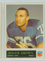 1965 Philadelphia 59 Roger Brown Detroit Lions Excellent to Mint