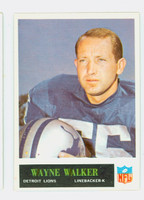 1965 Philadelphia 68 Wayne Walker Detroit Lions Excellent to Mint