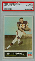 1965 Philadelphia 101 Hal Bedsole ROOKIE Minnesota Vikings PSA 8 Near Mint to Mint