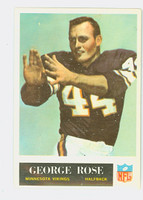 1965 Philadelphia 109 George Rose Minnesota Vikings Excellent