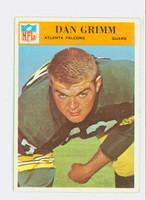 1966 Philadelphia 5 Dan Grimm Atlanta Falcons Excellent to Excellent Plus