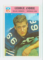 1966 Philadelphia 54 George Andrie Dallas Cowboys Excellent