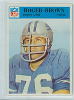 1966 Philadelphia 67 Roger Brown Detroit Lions Excellent to Mint