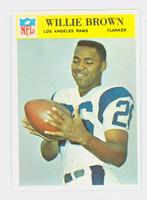 1966 Philadelphia 93 Willie Brown Los Angeles Rams Near-Mint