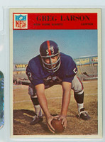 1966 Philadelphia 124 Greg Larson New York Giants Excellent to Mint