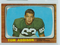 1966 Topps Football 1 Tommy Addison New England Patriots Very Good to Excellent