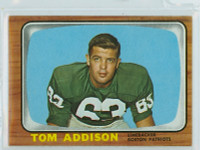 1966 Topps Football 1 Tommy Addison New England Patriots Excellent to Mint