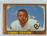 1966 Topps Football 45 Lionel Taylor Denver Broncos Excellent to Mint