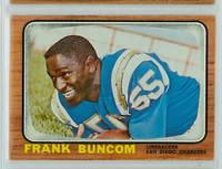 1966 Topps Football 120 Frank Buncom San Diego Chargers Excellent