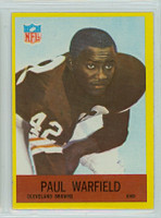 1967 Philadelphia 46 Paul Warfield Cleveland Browns Excellent to Mint