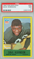 1967 Philadelphia 80 Dave Robinson ROOKIE Green Bay Packers PSA 7 Near Mint