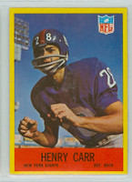 1967 Philadelphia 110 Henry Carr New York Giants Excellent to Mint