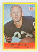 1967 Philadelphia 130 Dave Whitsell ROOKIE New Orleans Saints Very Good to Excellent