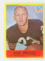 1967 Philadelphia 130 Dave Whitsell ROOKIE New Orleans Saints Excellent