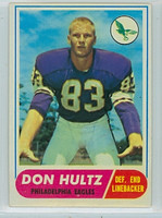 1968 Topps Football 6 Don Hultz Philadelphia Eagles Excellent to Excellent Plus