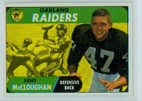 1968 Topps Football 12 Kent McCloughan Oakland Raiders Excellent to Mint
