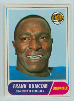 1968 Topps Football 18 Frank Buncom Cincinnati Bengals Excellent to Mint