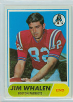 1968 Topps Football 20 Jim Whalen Boston Patriots Excellent to Mint