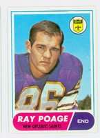 1968 Topps Football 30 Ray Poage New Orleans Saints Near-Mint