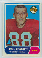1968 Topps Football 43 Chris Burford Cincinnati Bengals Excellent to Excellent Plus