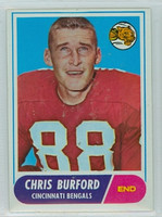 1968 Topps Football 43 Chris Burford Cincinnati Bengals Excellent to Mint