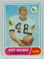 1968 Topps Football 58 Gary Ballman Philadelphia Eagles Excellent to Mint