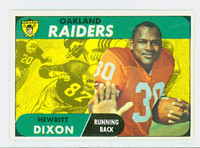 1968 Topps Football 64 Hewitt Dixon Oakland Raiders Excellent to Mint
