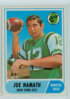 1968 Topps Football 65 Joe Namath New York Jets Excellent to Mint
