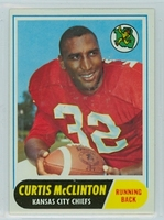 1968 Topps Football 67 Curtis McClinton Kansas City Chiefs Excellent to Mint