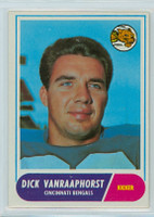 1968 Topps Football 70 Dick Van Rapphorst Cincinnati Bengals Excellent to Mint
