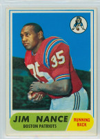 1968 Topps Football 72 Jim Nance ROOKIE Boston Patriots Excellent