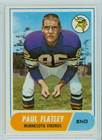 1968 Topps Football 81 Paul Flatley Minnesota Vikings Excellent to Mint