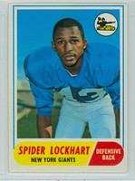 1968 Topps Football 83 Spider Lockhart New York Giants Excellent to Excellent Plus