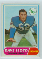 1968 Topps Football 84 Dave Lloyd Philadelphia Eagles Excellent to Mint