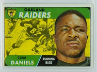 1968 Topps Football 90 Clem Daniels Oakland Raiders Excellent to Mint