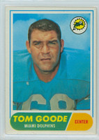 1968 Topps Football 92 Tom Goode Miami Dolphins Excellent to Mint