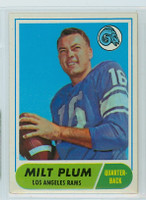 1968 Topps Football 104 Milt Plum Los Angeles Rams Excellent to Mint