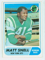 1968 Topps Football 117 Matt Snell New York Jets Very Good to Excellent