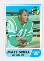 1968 Topps Football 117 Matt Snell New York Jets Excellent