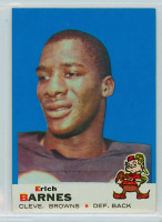 1969 Topps Football 4 Erich Barnes Cleveland Browns Excellent to Mint