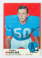 1969 Topps Football 19 Bobby Maples Houston Oilers Excellent to Excellent Plus