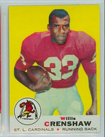 1969 Topps Football 21 Willie Crenshaw St. Louis Cardinals Excellent to Mint