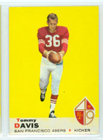 1969 Topps Football 22 Tommy Davis San Francisco 49ers Near-Mint to Mint