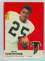 1969 Topps Football 24 Jerry Simmons Atlanta Falcons Excellent to Mint