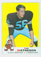 1969 Topps Football 27 Bob Matheson Cleveland Browns Near-Mint